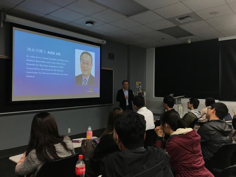 Dr. Yongchun Liu gave lecture on artificial intelligence at USC